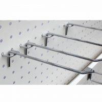 Stainless-Steel-Peg-Board-Hooks-Board-Wall-Retail-Display-Shop-Peg-Slat-Walling-Home-Hanger-Chrome