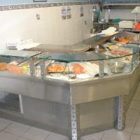 Stainless Steel Refrigerated Fish Counter
